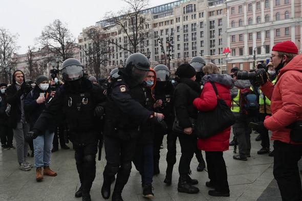 задержания на акции протеста в поддержку Навального