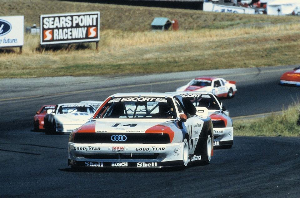 Вальтер Рёрль и Харли Хэйвуд на этапе Trans-Am '88 в Сирс-Поинте