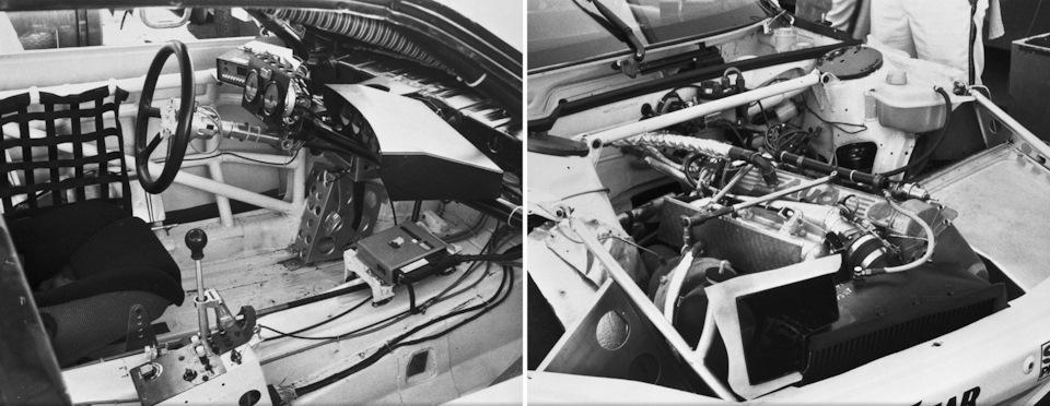 Кокпит и двигатель Audi 200 Quattro Trans-Am