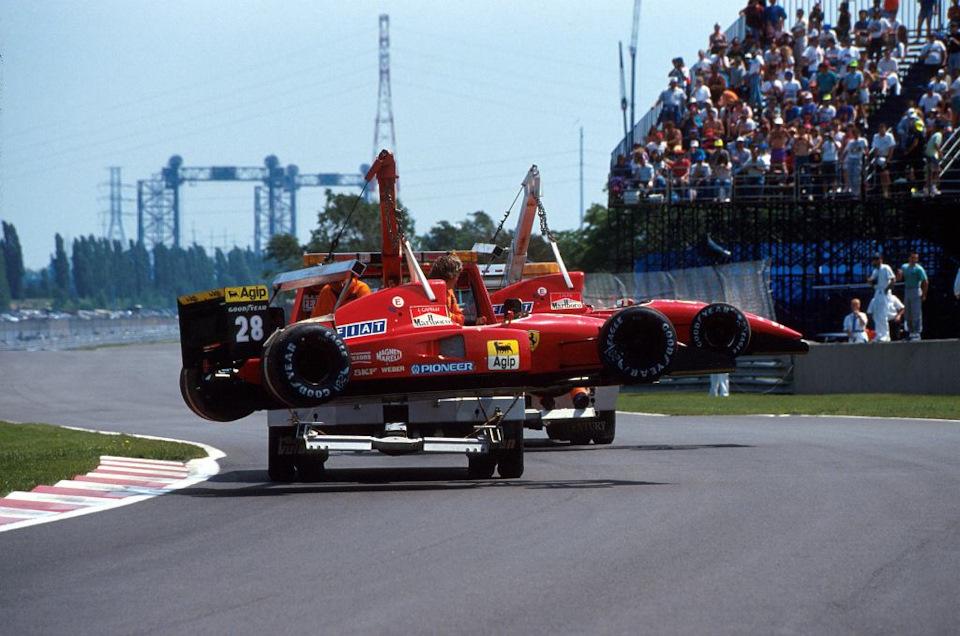 авария Ferrari F92
