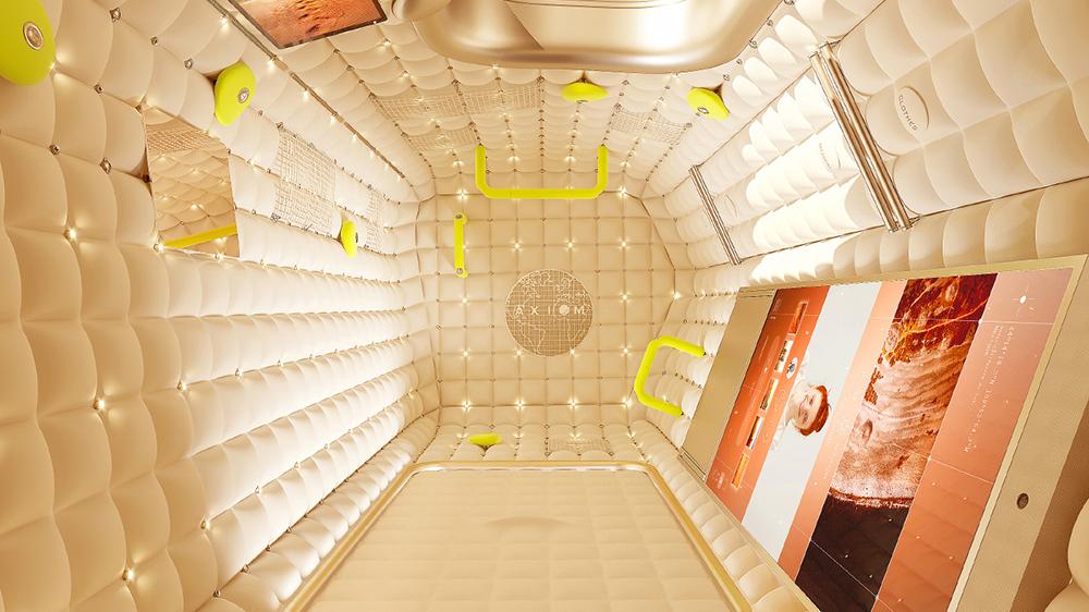 Визуализация интерьера AxStation, разработанного Филиппом Старком.