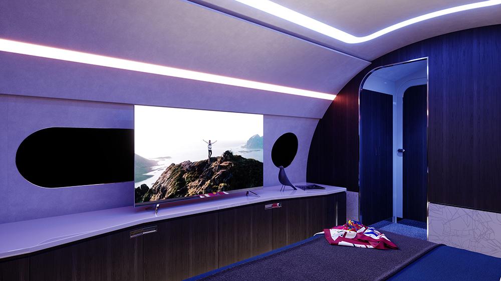 телевизор на Airbus ACJ TwoTwenty