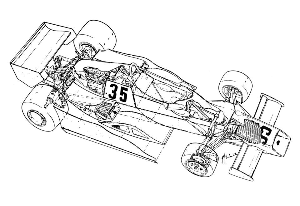 схема Arrows FA1 Ford