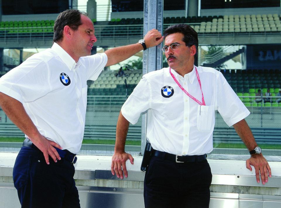 Директоры BMW Motorsport Герхард Бергер и Марио Тайссен.