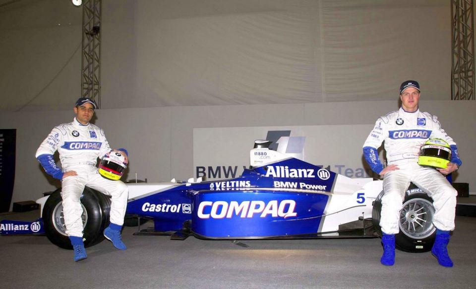 Хуан-Пабло Монтойя и Ральф Шумахер на презентации Williams FW23 BMW.