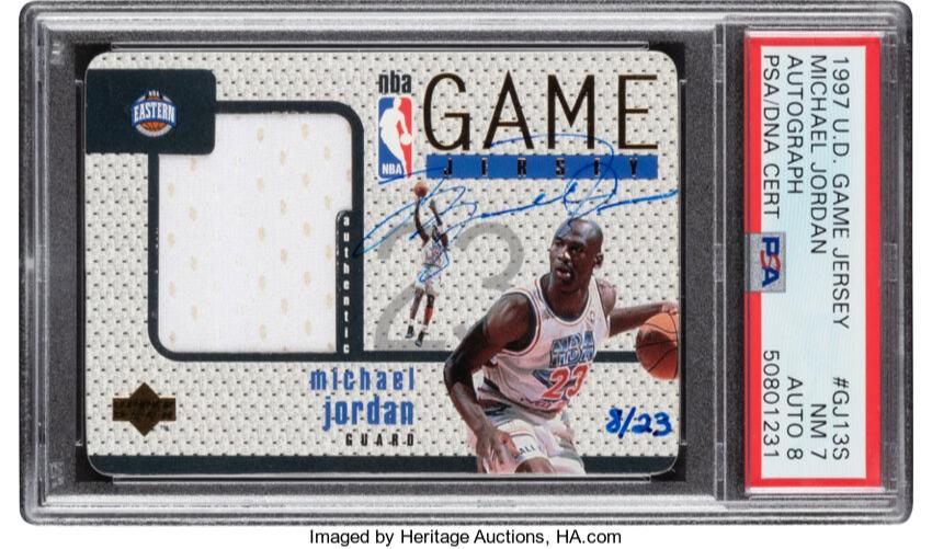 Карточку с автографом Майкла Джордана продали за рекордные $1,44 млн