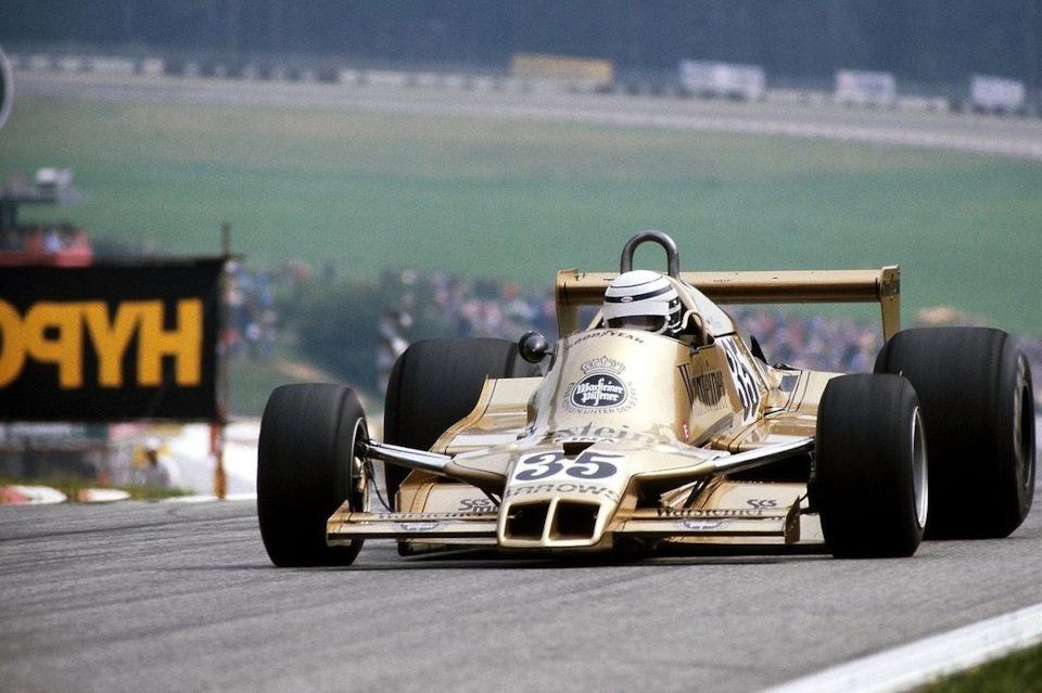 Риккардо Патрезе на Arrows A1 Ford в ходе Гран При Австрии '78
