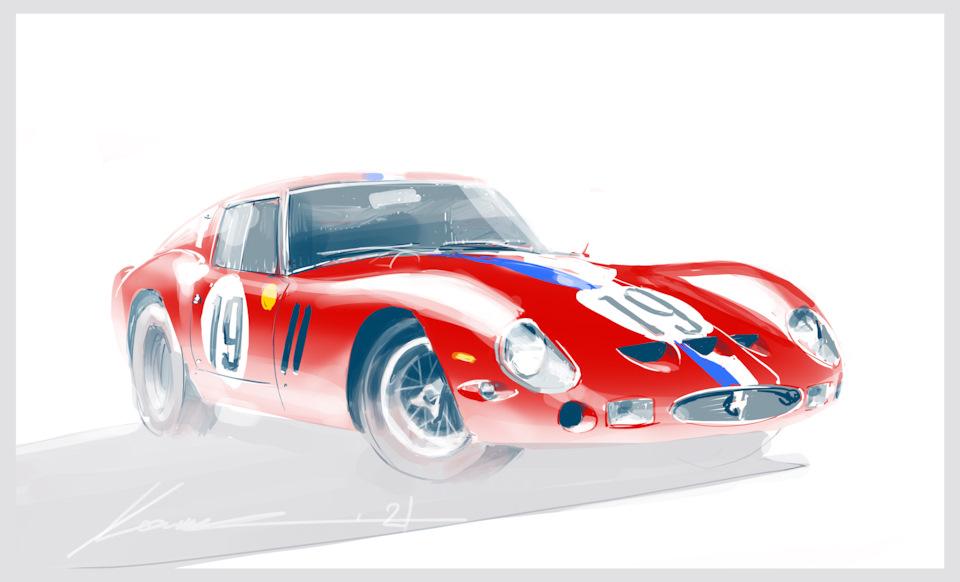 Ferrari 250 GTO экипажа Нобл и Гуше, занявшего 2-е место в абсолютном зачёте «24 часов Ле-Мана» '62.