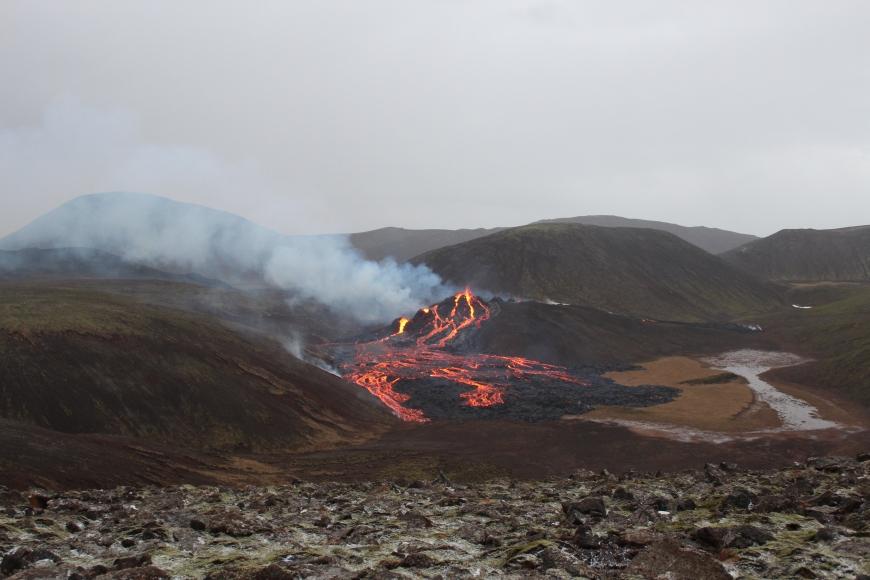 В Исландии началось извержение