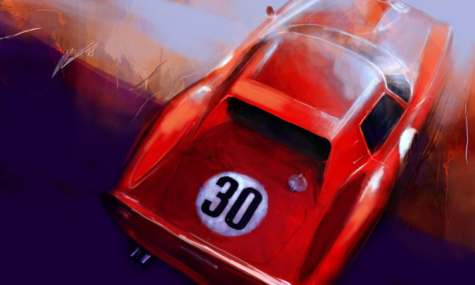 Ferrari 250 GTO с кузовом Pininfarina экипажа Хилл/Родригес, победителей «2000 км Дейтоны» '64