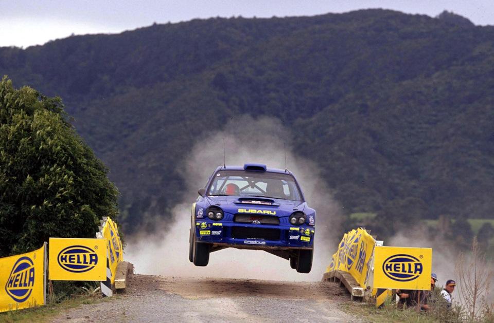 Ричардс Бёрнс и Роберт Рейд на Subaru Impreza WRC летят к победе в «Ралли Новой Зеландии» '01.