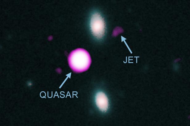 Композитное изображение квазара PJ352-15