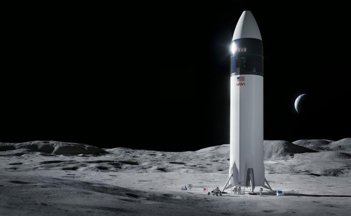 Как будет выглядеть лунный посадочный модуль, разработанный SpaceX