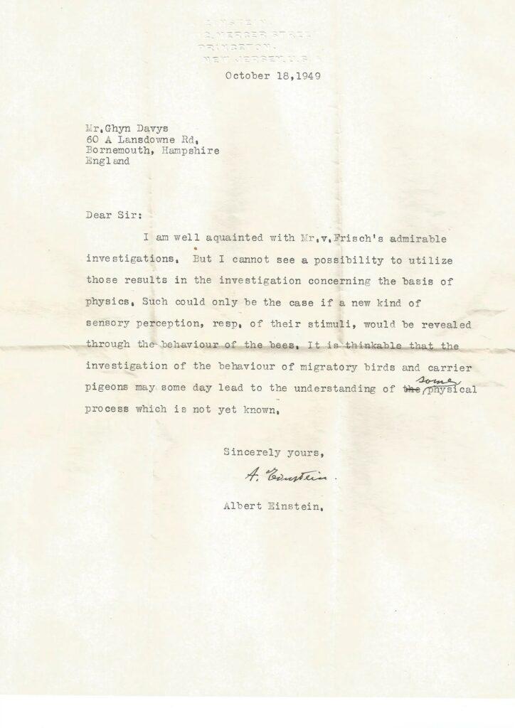 Неизвестное ранее письмо Альберта Эйнштейна