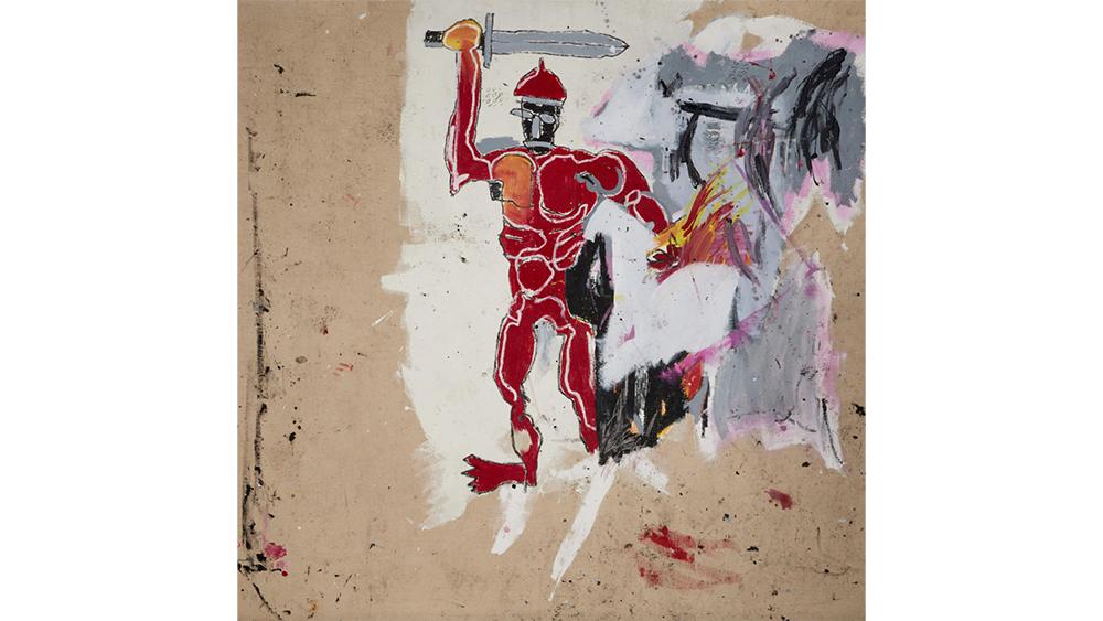 Картина Баскии «Красный воин»